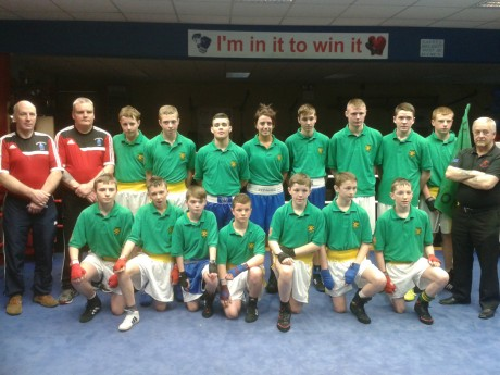 The Donegal boxing team in Mayo yesterday