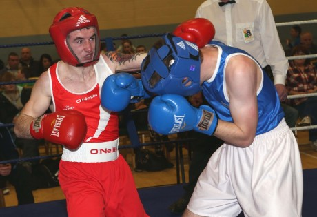Dennis Lafferty (red) will be in action at the Raphoe ABC tournament
