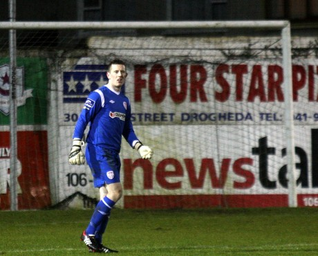 Ciaran Gallagher pictured on his debut last Friday
