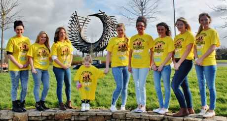 Nikki Bradley and friends pictured promoting Darkness Into Light Donegal.