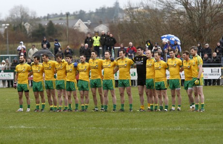 The Donegal team who defeated Monaghan at O'Donnell Park on Sunday.