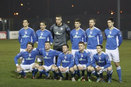 Finn Harps pictured before last night's game against Cockhill Celtic