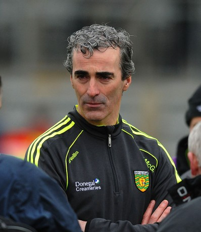 Donegal manager Jim Mc Guinness, after a disappointing result in Newry