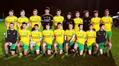 The Donegal squad pictured before their opening game against Fermanagh