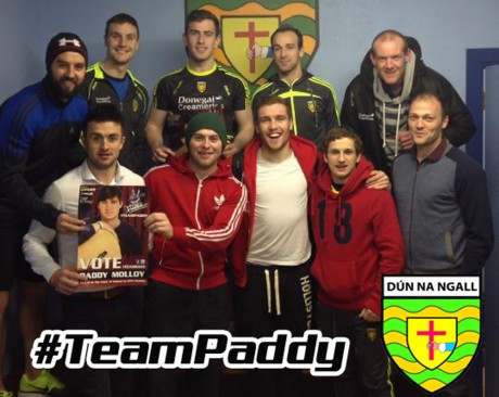 Donegal Senior Football players show their support for Paddy Molloy.