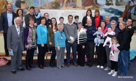 Tommy Martin, TV3, pictured with the family of Sister Mary Dolores Sweeney.