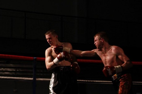 Shaun McShane connects with Ryan Love during their fight in February