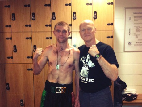 Shaun McShane with his coach, Jimmy Reilly