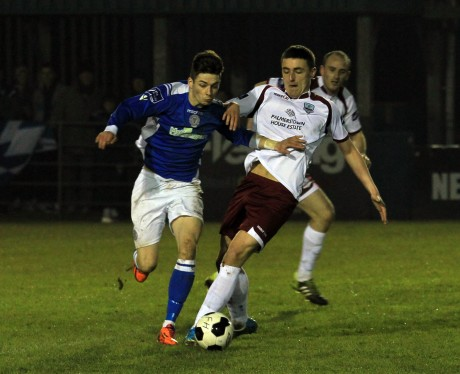 Ruairi Keating of Finn Harps in action against Galway. Photo: Donna El Assaad