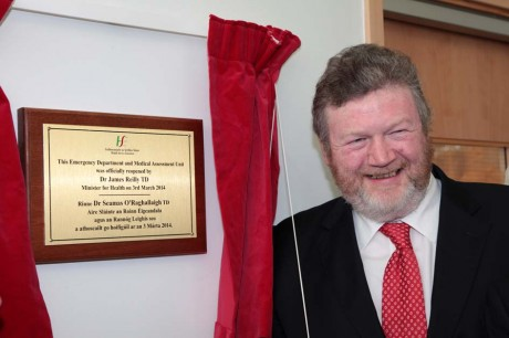 Minister for Health, Dr. James Reilly, TD, reopens the Accident and Emergency Department at Letterkenny General Hospital.