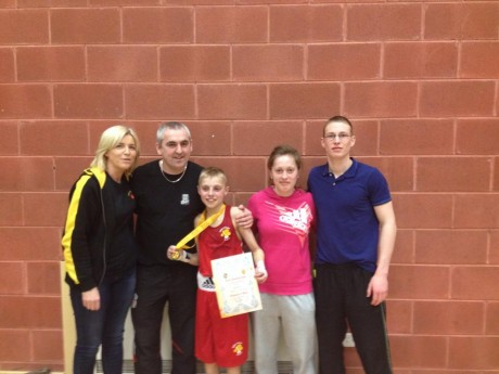 Eoin McGarrell, with Finn Valley ABC members Sharon Scanlon, Billy Quigley, Austeja Auciute and Orin McDermott