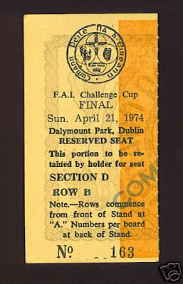 1974 Cup Final Ticket