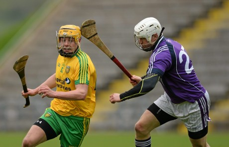Sean McVeigh on the attack for Donegal