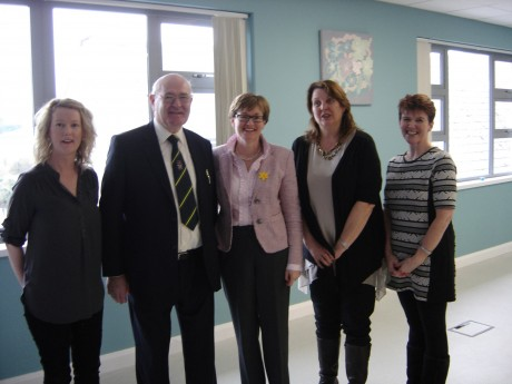 Donegal Local Development Company Ltd staff Lareina Toland, Kathy Cunningham and  Margaret Doherty welcome Mairead Mc Guinness MEP along with John Campbell.