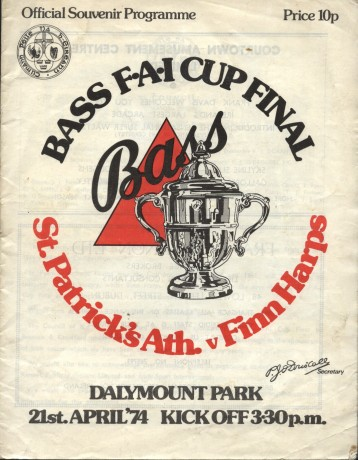 A match programme from the 1974 FAI Cup final