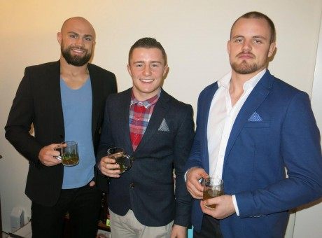 Cathal Pendred, currently featured in The UFC programme The Ultimate Fighter, James Gallagher and UFC star Gunnar Nelson.