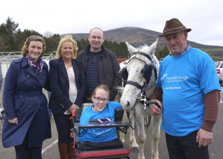 Pictured at the launch of the Malin to Mizen Horse & Carriage Drive for Cancer Research are from left Orla Dolan and Ann O'Sullivan Breakthrough Cancer Research, Dr. Patrick Forde, Cork Cancer Research Centre, John McMahon, event organiser and Joanne O'Riordan.