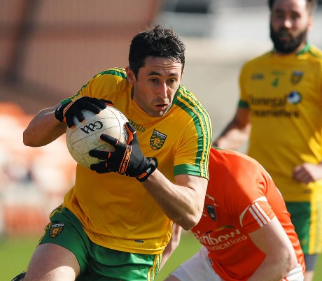 Donegal midfielder Rory Kavanagh beats his man and heads for goal in the game with Armagh.
