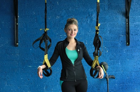 Nikki Bradley pictured in the Optimal Fitness gym in Letterkenny. Picture: Declan Doherty.