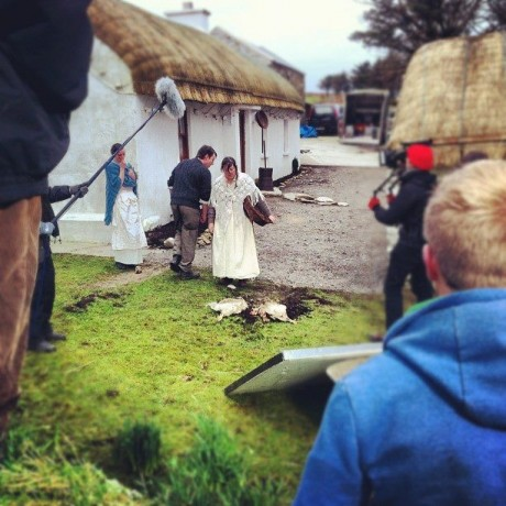On location in Carrick filming Bean Si.