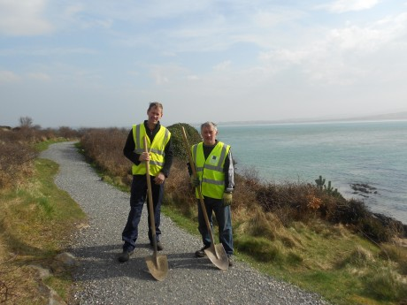 RSS workers Gilbert Neely and John McGinley working at Ards Friary