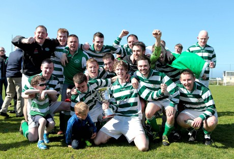 Rathmullan celebrate winning the Donegal League Premier Division.