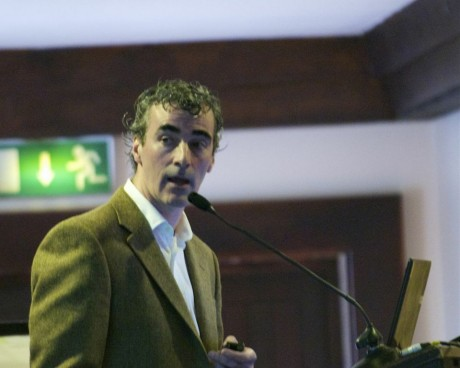 Jim McGuinness speaking at the event.