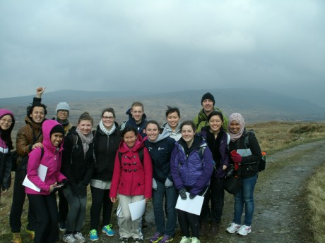 People from all over the world have taken part in Rock Agus Roam. Pictured is a group from University College Dublin who visited the Gaeltacht recently.