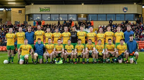 The Donegal Under-21 squad before Wednesday's final.