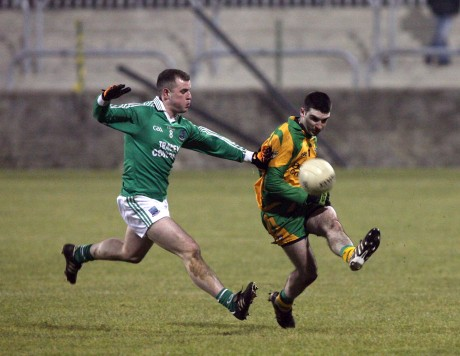 Jamie Doherty in action for the Donegal seniors in the 2011 Dr McKenna Cup