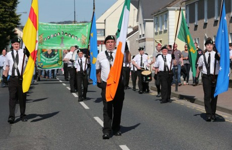 Easter Sunday parade in Stranorlar.