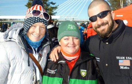 Anne Marie Ward with USA team friends Darren Miller and Melissa Mo O'Reilly.