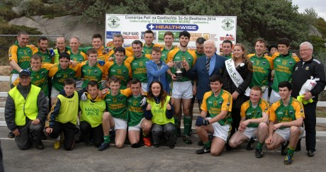 Naomh Columba celebrate their win on Monday