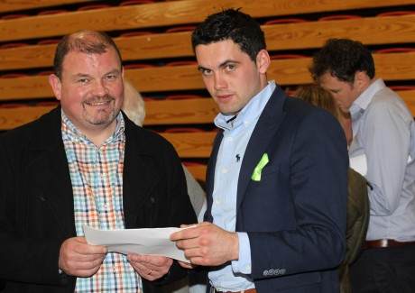 Cllr Ciaran Brogan and candidate James Pat McDaid.