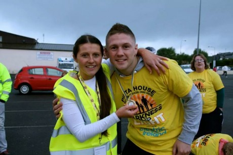 Donna Maskery and boxer Jason Quigley at this year's Darkness into Light event.