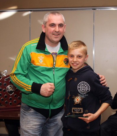 Eoin McGarrell, pictured with Finn Valley ABC coach Billy Quigley, will be in action in Clonmany.