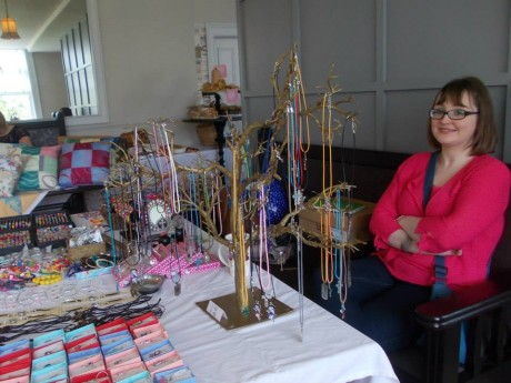 Selling jewellery at the recent Féile Carraig Arts & Crafts Fair in the Carrigart Hotel.