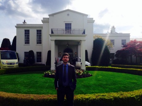 Fionan Lynch outside the US Ambassador's residence.