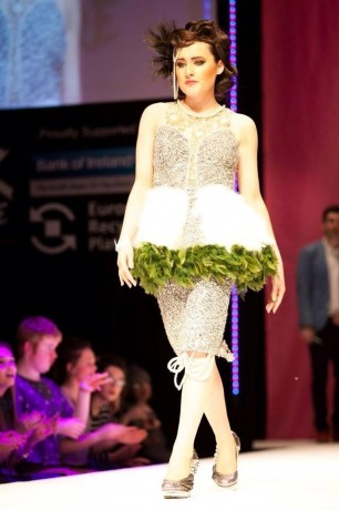 Roisin Doherty modelling the dress Metallic Glamour for CCS.