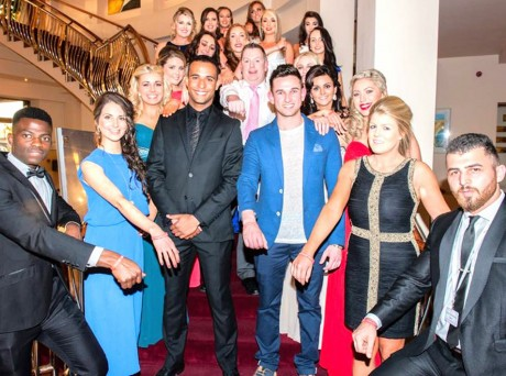 Leah pictured at the sem final with fellow contestants, host Kamil Ibrahim and RTÉ The Voice Of Ireland 2014 finalist Jay Boland.
