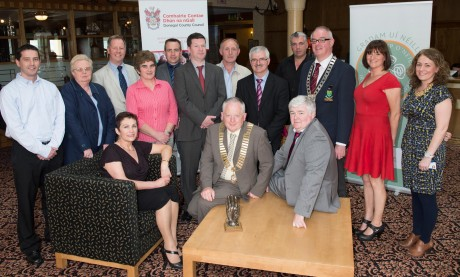 The Tip O'Neill Irish Diaspora Award organising committee at the launch. Photo: Clive Wasson