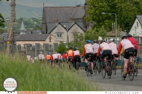 The Cycle Against Suicide passing through Sligo on Tuesday.