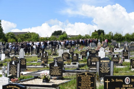 Hundreds of people turned out In St Johnston to pay their respect to Oisín Crawford