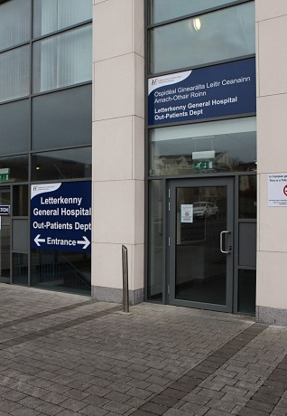 The entrance to the new Letterkenny General Hospital Out-Patients Department.