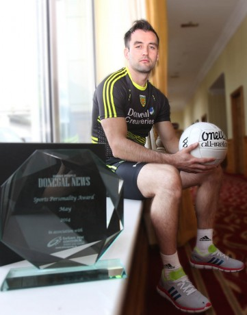 Karl Lacey, who won the Donegal News Sports Personality of the Month award, May 2014. Photo: Donna El Assaad