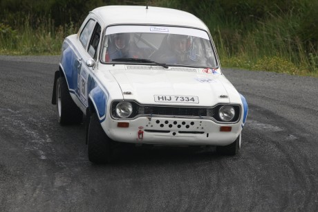 Cranford's PJ Wilhare back at the wheel of a escort on the Donegal Rally at the weekend. Photo: Brian McDaid