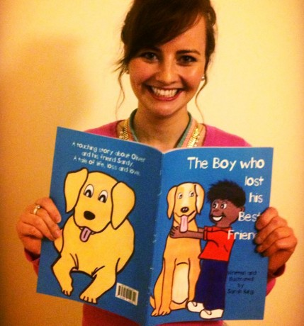 Sarah King with her latest book.