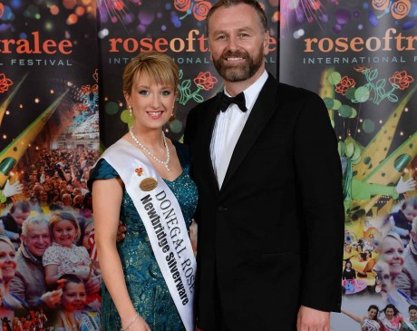 Donegal Rose – Tamara Payne pictured with RTE's Dáithí Ó Sé. Photo: Domnick Walsh / Eye Focus