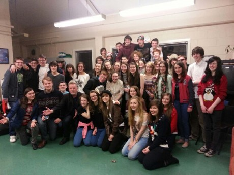 Members of the Letterkenny Youth Theatre pictured  in An Grianán's Greenroom.