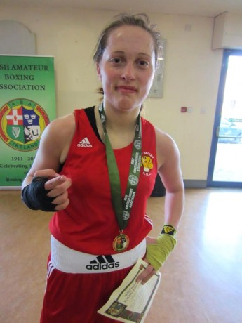 Austeja Auciute, who won the Under-18 64kgs title on Saturday, her ninth All-Ireland win.